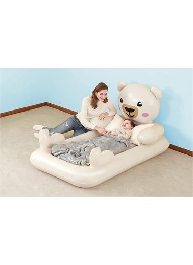 Bestway Teddy Bear Temalı, Şişme Çocuk Yatağı - Bestway 67712 Renkli